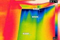 Air leakage behind plasterboard linings