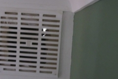 Daylight visible through redundant air vent