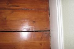 Gap between floorboards
